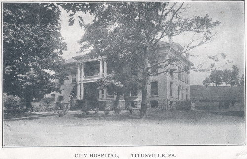 old picture of hospital